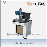 laser machine engraving metals JQ-20 fiber laser maring machine