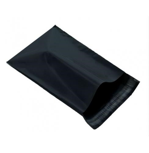 Rigid Mailing Envelope Black Printed Plastic Mailing Imprinted Postage Bag