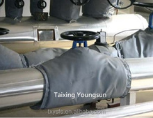 Teflon coated thermal insulation jackets for chemical pipes
