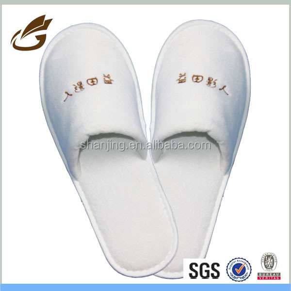 100 Cotton Wholesale Embroidery Print Logo HotelBathroom Slippers