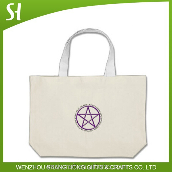 silk screen print Wholesale custom design star printed unisex organic calico cotton canvas shopping tote bag