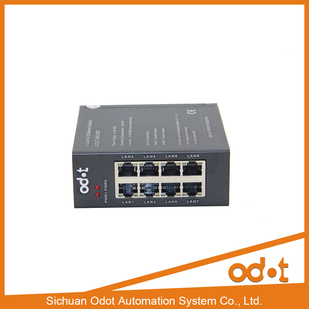 8 port 10/100M DIN-Rail Unmanaged industrial Ethernet Switches