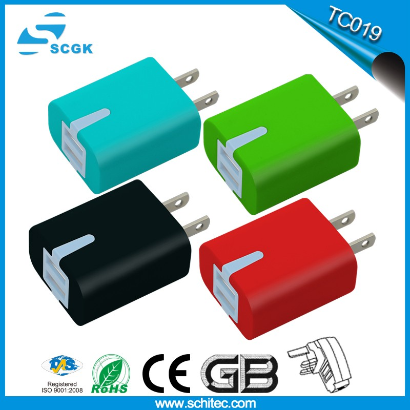 Mobile phone accessories Micro Dual-Output Travel Charger