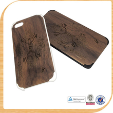 Cheapest wood phone case for iphone 5S latest wood phone case design for samsung S5