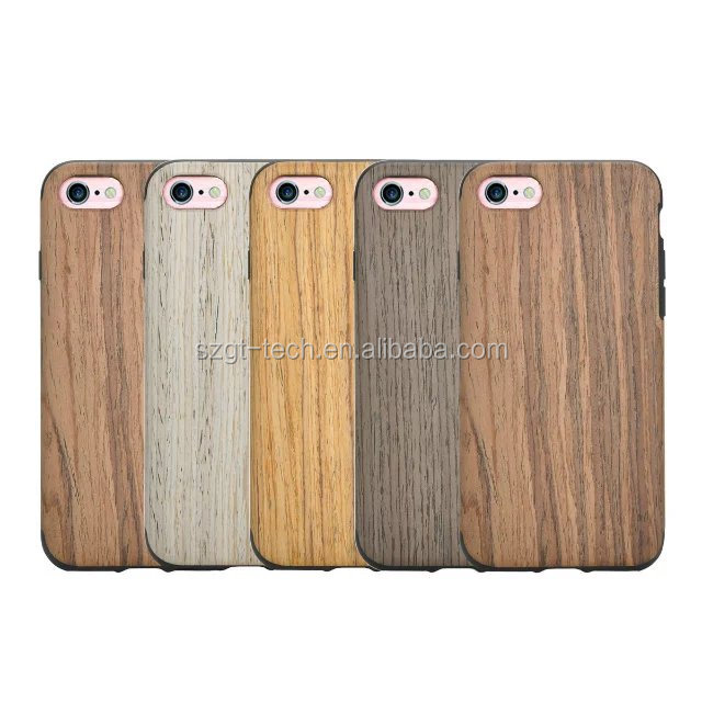 Wooden Case for apple iPhone 7 Natural Wood TPU Case for apple iPhone 7 Shenzhen factory