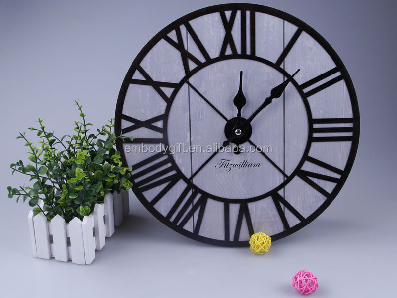 Decorative MDF Wall Clock With Round Shape