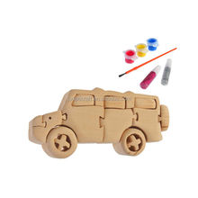 3D wooden craft puzzle off-road vehicle