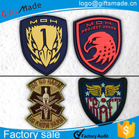 custom army military security embroidery badge,school blank tin button badges wholesale