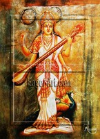 Wholesale Canvas Handmade Indian Buddha God Oil Painting