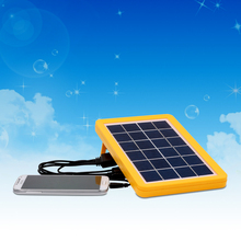 China manufacturer 6V3W Grade A polycrystalline solar cell 5in1 phone charger solar panel