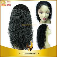 new arrival premium quality accept paypal cheap virgin brazilian hair kinky curly full lace wig