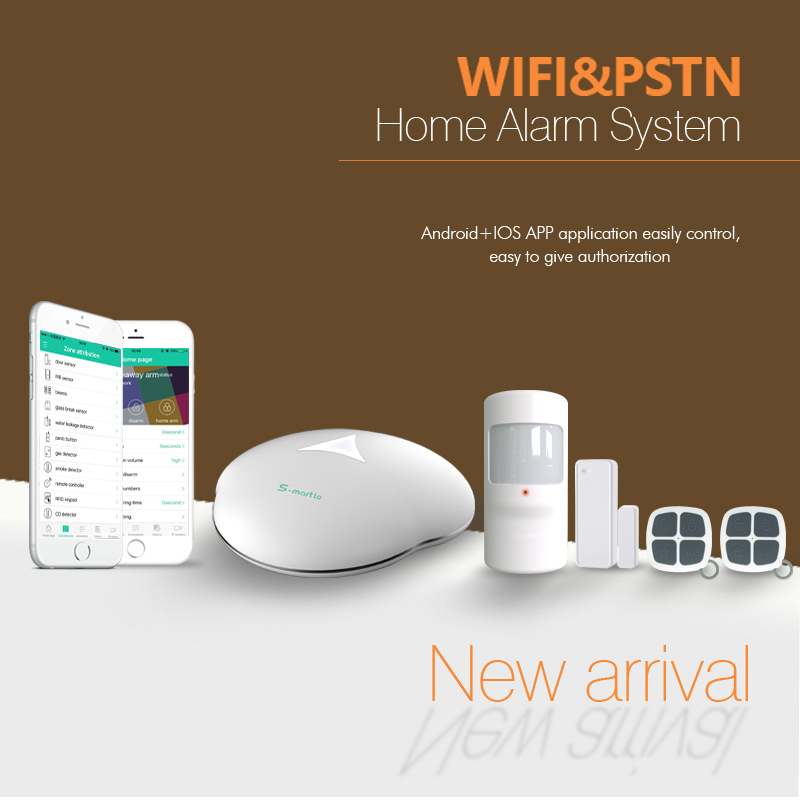 Intelligent wireless home security alarm hub, APP controlled wireless hom security alarm system WiFi PSTN smart home hub