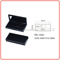 PA-1051 matte black eyeshadow palette plastic cosmetic packaging eyeshadow case