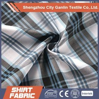 polyester cotton yarn dyed shirting fabric 100% cotton