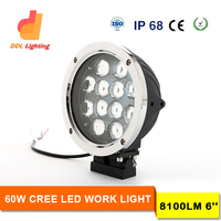 "2016 DDL Newest led 60w spot beam work light round 6"" 60w worklight led 4D crees led driving light offroad truck led light work"