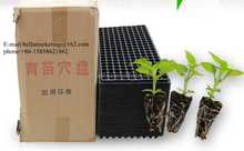 128 Cells Black Vegetable Plant Nursery, Plastic Gardening Seedlings Trays Disposable