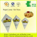 Eco Friendly paper Brown Cones for french fries Medium Size D19