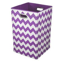 Modern Littles Sky Zigzag Folding Laundry Basket