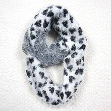 Fashion decoration knit acrylic scarf with feather yarn for winter
