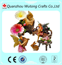 factory supplies garden figurine decoration resin crafts fairy miniature statues