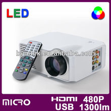 Home Theater Portable TV Pico Mini DVD 3D Video LCD Cinema HD 1080P LED Projector Beamer Proyector Office Game