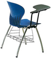 SF-20F Plastic conference chair with writing tablet chair with writing pad