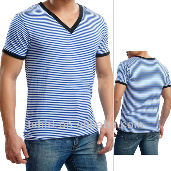 Custom mens striped t shirt