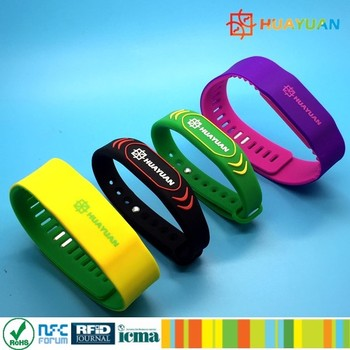Colorful and Adjustable MIFARE DESFire EV1 2K Soft Silicone RFID Wristband
