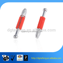 furniture fixing aluminium furniture cam lock screw