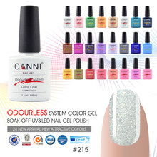 #30917a Nail Art Design CANNI Brand Matte French Tip Gel Nail Polish 239 Color Metal Bling glitter Soak off UV Nail Gel Polish
