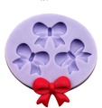 100%food-grade Soft silicone bowknot silicone fondant mold