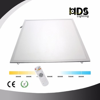 3000K 4000K 5000K CCT adjustable 40W LED Panel Ceiling Light 600x600 with Remote control