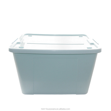 good quality hot sellong 58L plastic container with wheels camper box storage bins warehouse plastic combination lock box