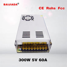 Small volume single output 60a power supply 5v switch mode power supply 300w smps 5V60A Switching Power Supply