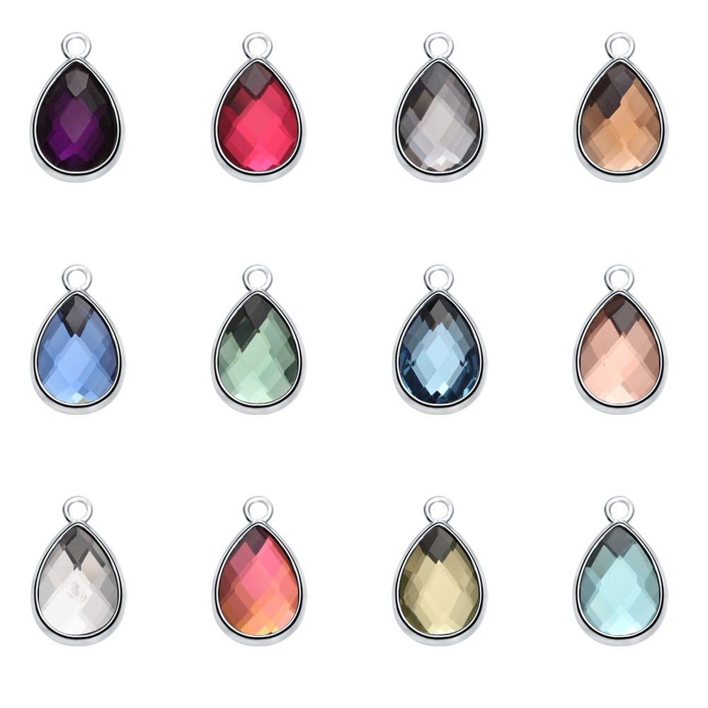 free jewelry samples free shipping birthstone teardrop charm pendant