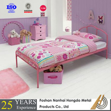 metal pink kids double beds for girl