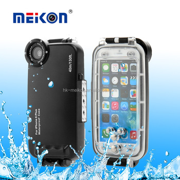 Shenzhen mobile phone case factory Top quality waterproof mobile phone Meikon waterproof case for iphone 6 plus
