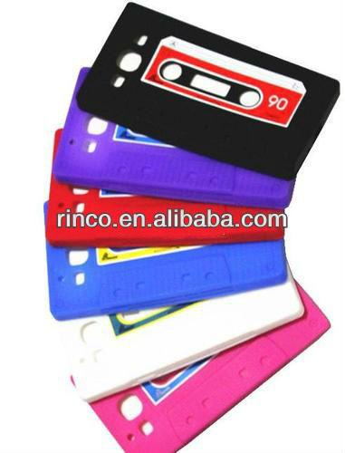 Cassette Tape Silicone Case Cover for Samsung Galaxy S3 S III 3 i9300