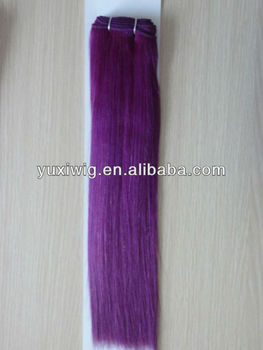 fashion purple weave hair factory selling
