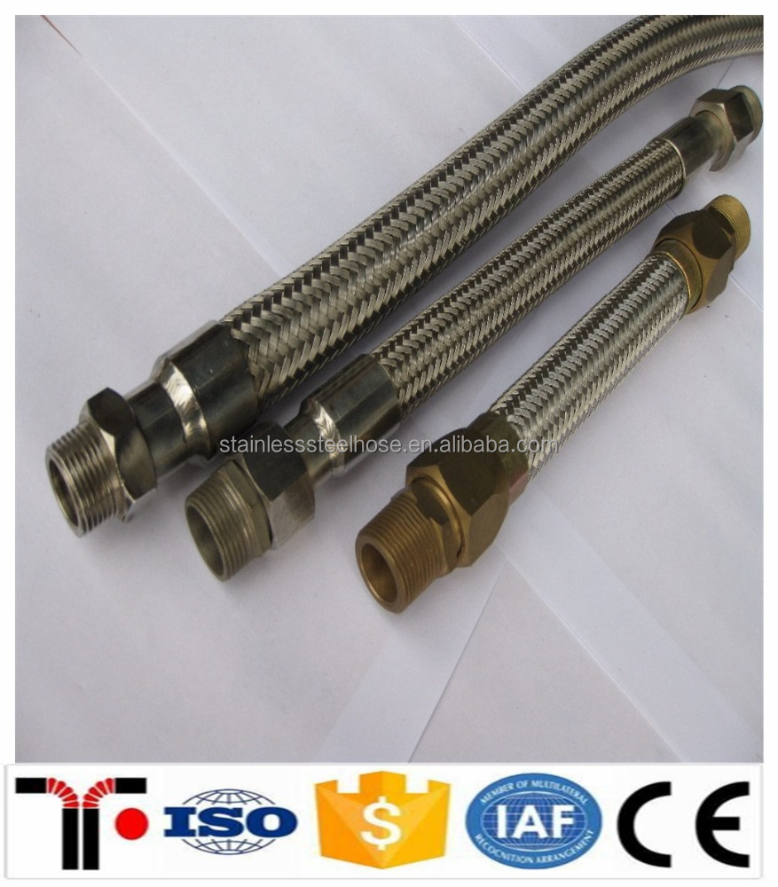 High Temperature Stainless Steel Flexible Braided Metal Hose for Hot Water