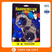 Promotion Metal Handcuffs Police Toy, Kid Handcuffs Toy For Party And Event