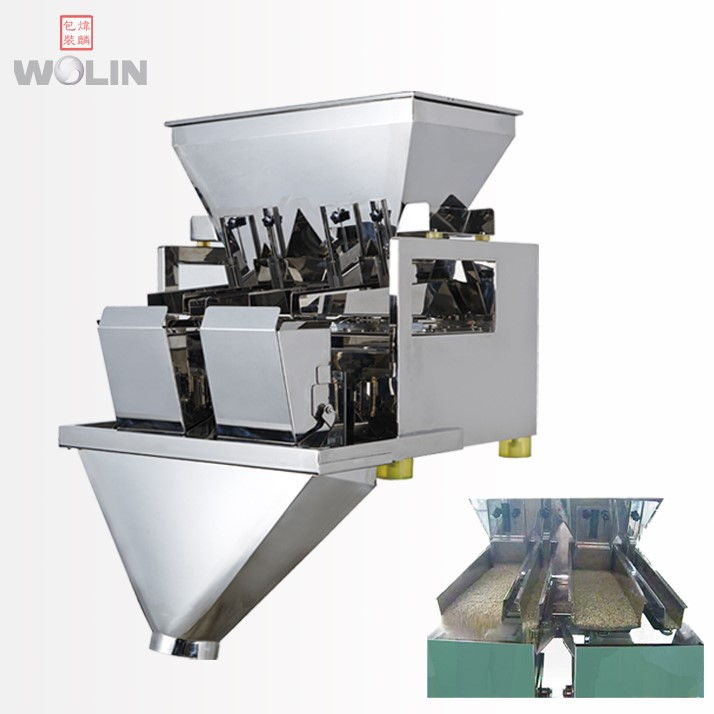 Automatic 2Head Linear Weigher 8L weighing <strong>scale</strong> 500g, 1kg, 2kg, 3kg, 5kg, 10kg rice seeds nuts spices tea chocolate granules