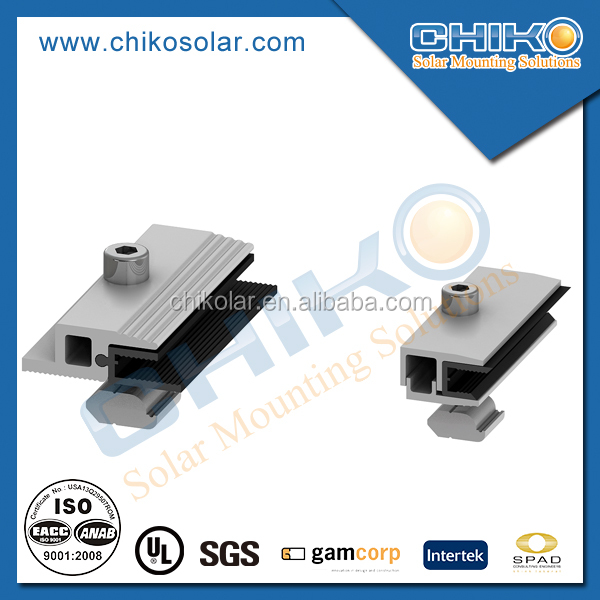 Best price thin film solar panel clamps solar mounting