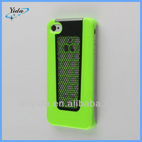 Net Design Hard Aluminum Metal Cell Phone Case For Apple iPhone 4S
