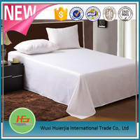 Commercial & Hotel use white bed linen /cotton bed sheet