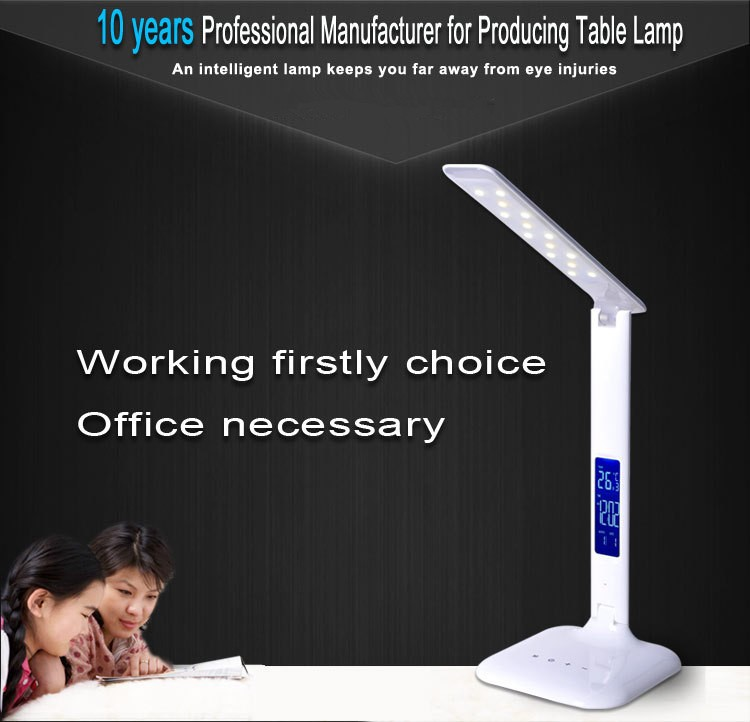 led touch usb desk lamp reading light folding desk lamp with clock bedside
