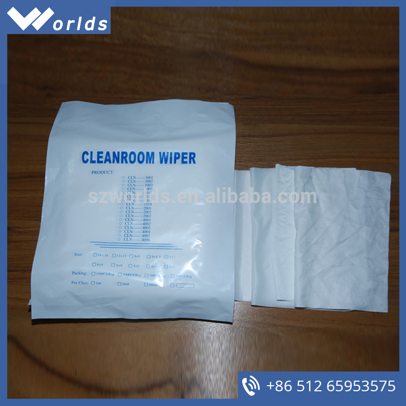 Factory direct sale W-2002 dust-free polyester clean room wipes