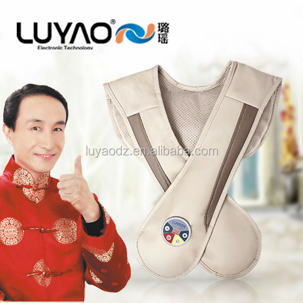Leather neck and back massage belt with infrared heat LY-803S