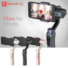 "Zhiyun Smooth-Q 3-Axis Handheld Gimbal Camera Stabilizer Wireless Control Panorama Mode for Smartphone 3.5"" to 6"" D4623"