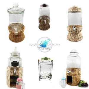 1.8 L Cheap Glass Cold Beverage Drink Can Dispenser Water Glass Dispenser Faucet